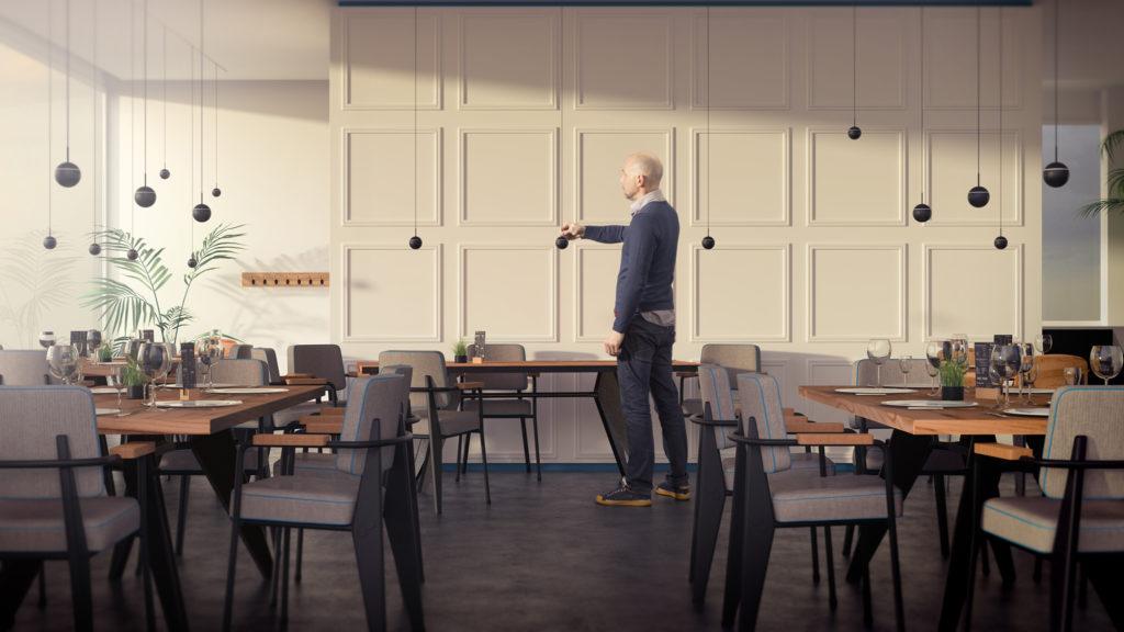 Snooker by Prolicht - creative lighting solution for restaurant