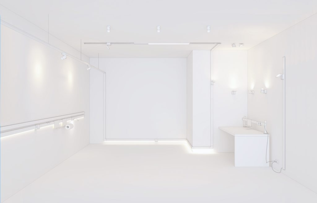 Nodo as architectural lighting solution offer many possible layouts