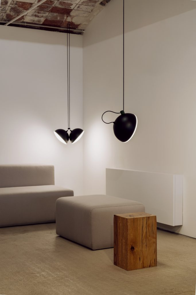 Nod is a globe shaped suspended fixtures illuminating contemporary interiors