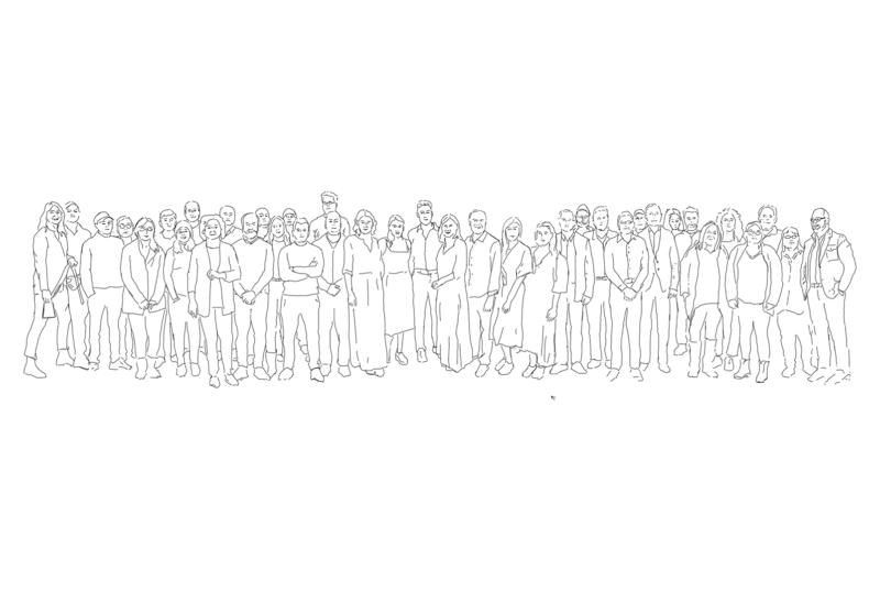 Sketch of the Zaneen Lighting team
